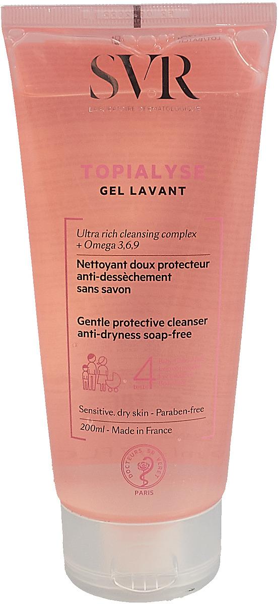 Гель очищающий SVR Топиализ, 200 мл svr topialyse gel lavant очищающий гель для сухой чувствительной кожи без щелочи 200 мл