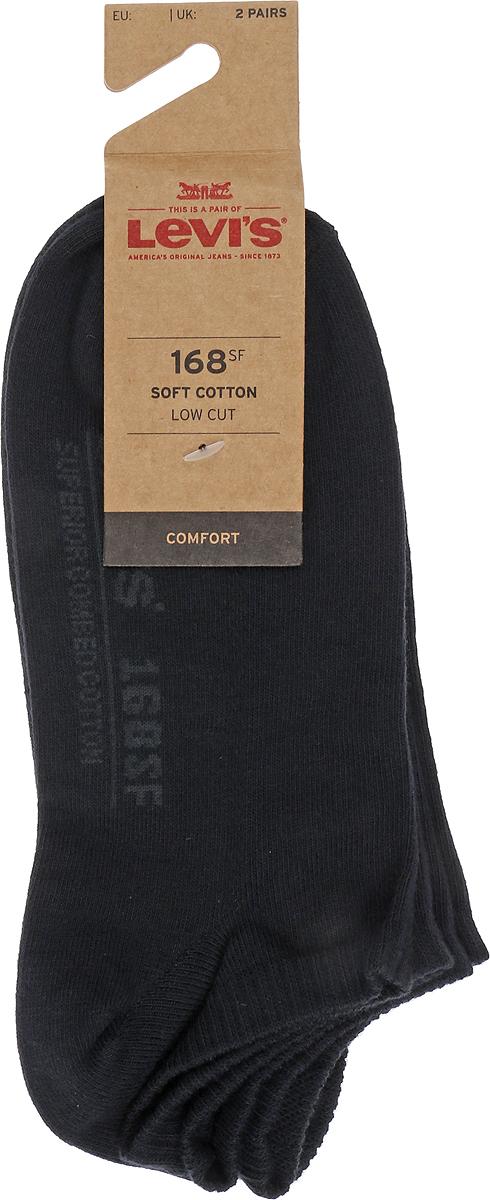 Носки мужские Levis® Sneaker, цвет: черный, 2 пары. 7731903970. Размер 397731903970