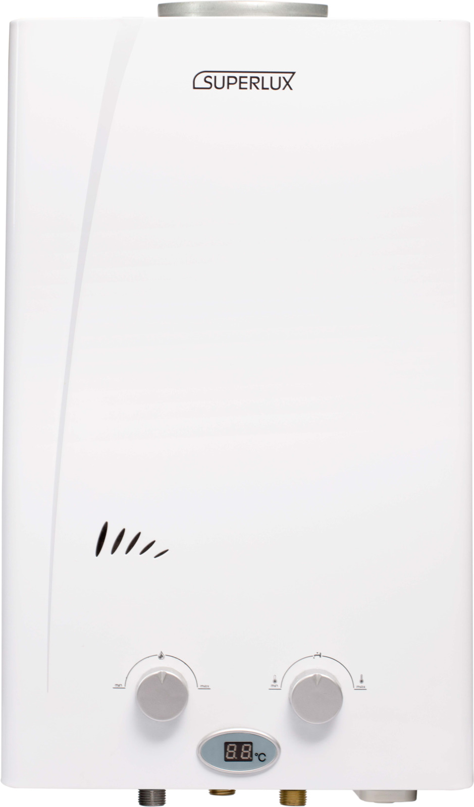 Водонагреватель Ariston Superlux 10L CF NG, проточный, серый металлик