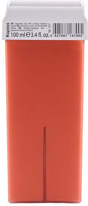 Жирорастворимый воск для депиляции Kapous Professional Depilation, с ароматом апельсина, 100 мл крем для депиляции camo depilation цена