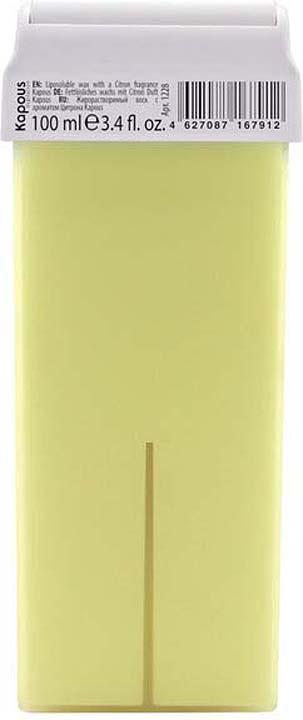Жирорастворимый воск для депиляции Kapous Professional Depilation, с ароматом цитрона, 100 мл крем для депиляции camo depilation цена