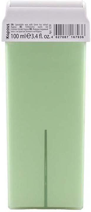 Жирорастворимый воск для депиляции Kapous Professional Depilation, с экстрактом зеленого чая, 100 мл крем для депиляции camo depilation отзывы