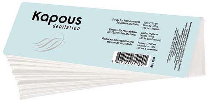 Бумага для депиляции Kapous Professional Depilation, 7 х 20 см, 100 шт