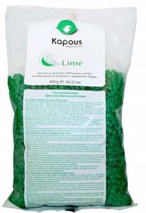 Воск для депиляции Kapous Professional Depilation, в гранулах, с ароматом лайма, 800 г гелевый воск для депиляции kapous отзывы