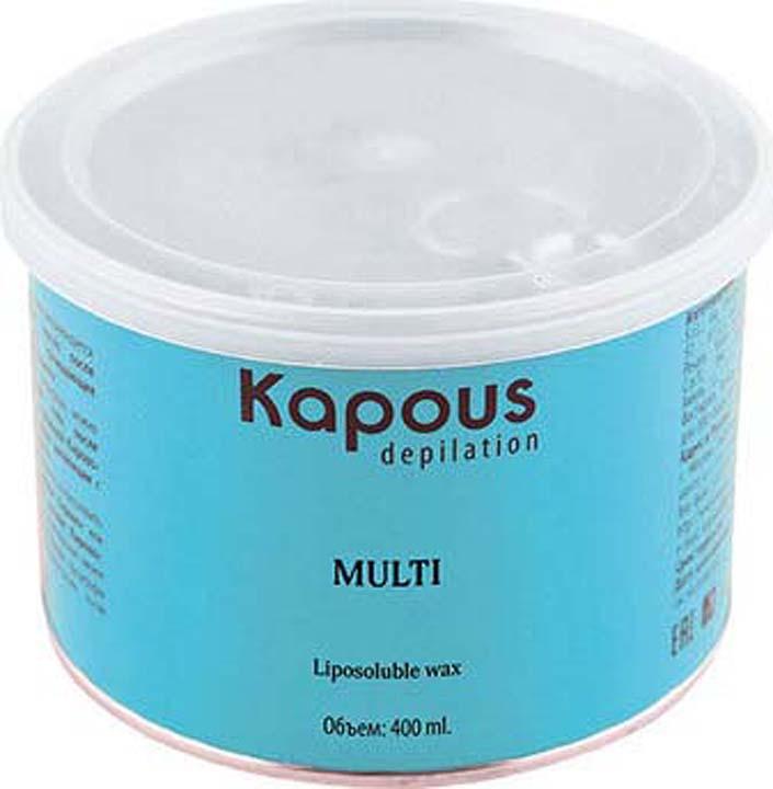 Жирорастворимый воск для депиляции Kapous Professional Depilation, с азуленом, синий, 400 мл крем для депиляции camo depilation отзывы
