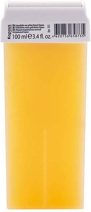 Жирорастворимый воск для депиляции Kapous Professional Depilation, натуральный, желтый, 100 мл крем для депиляции camo depilation цена