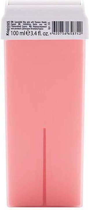 Жирорастворимый воск для депиляции Kapous Professional Depilation, с диоксидом титаниума, розовый, 100 мл крем для депиляции camo depilation цена