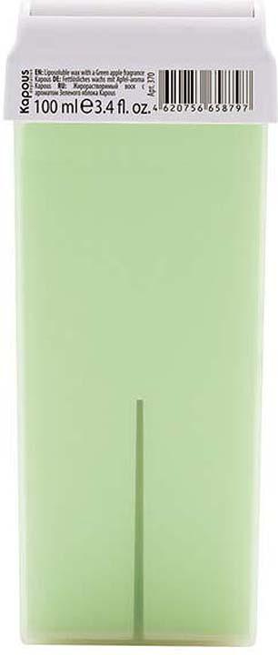 Жирорастворимый воск для депиляции Kapous Professional Depilation, с ароматом зеленого яблока, 100 мл крем для депиляции camo depilation цена