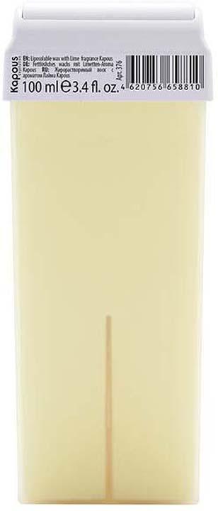 Жирорастворимый воск для депиляции Kapous Professional Depilation, с ароматом лайма, 100 мл крем для депиляции camo depilation цена