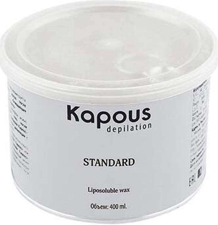 Жирорастворимый воск для депиляции Kapous Professional Depilation, с ароматом шоколада, 400 мл крем для депиляции camo depilation отзывы