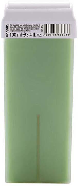 Жирорастворимый воск для депиляции Kapous Professional Depilation, с эфирным маслом корицы, 100 мл крем для депиляции camo depilation цена