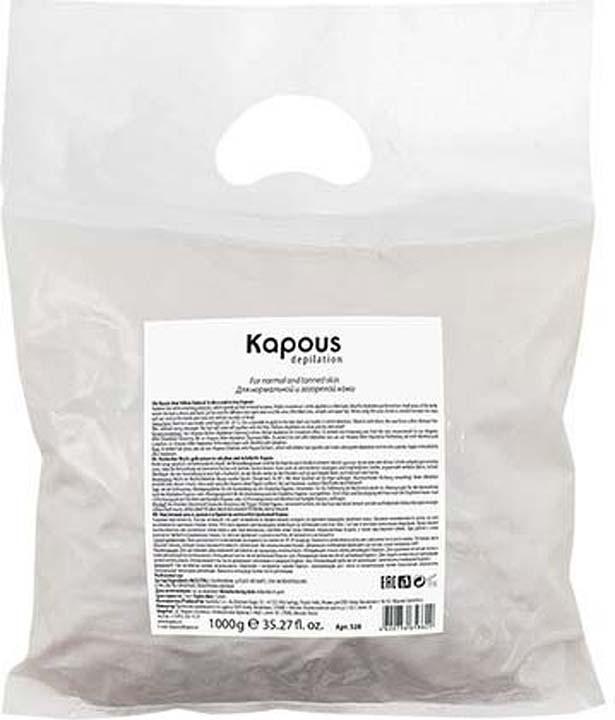 Эластичный воск для депиляции Kapous Professional Depilation, натуральный, желтый, 1 кг гелевый воск для депиляции kapous отзывы