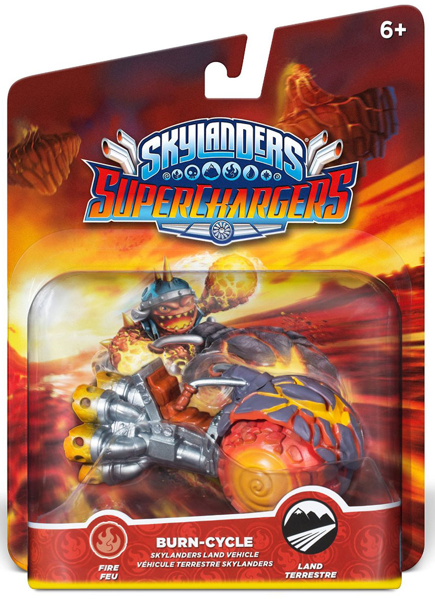 Skylanders SuperChargers. Интерактивная фигурка машина Burn Cycle Skylanders