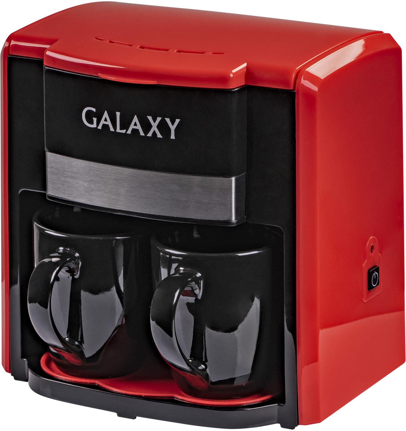 Кофеварка Galaxy GL 0708, красный, черный кофеварка galaxy gl 0708 красная
