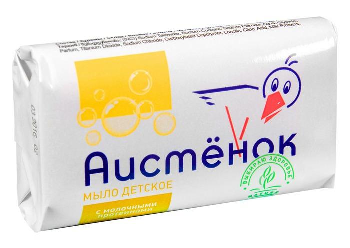 """Мыло детское Аист """"Аистенок"""", с молочными протеинами, 4304010033, 70 г"""