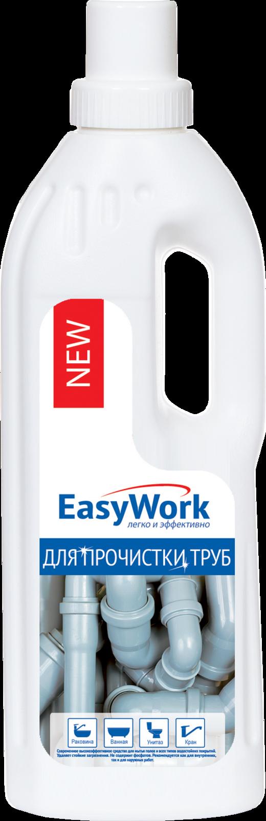 Средство для прочистки труб EasyWork, 303477, 750 мл трос для прочистки канализационных труб 5 5 мм х 3 м