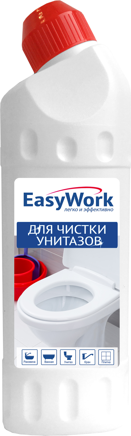 Средство для чистки унитазов EasyWork, 303439, 500 мл гель unicum для чистки унитазов лимон 750 мл