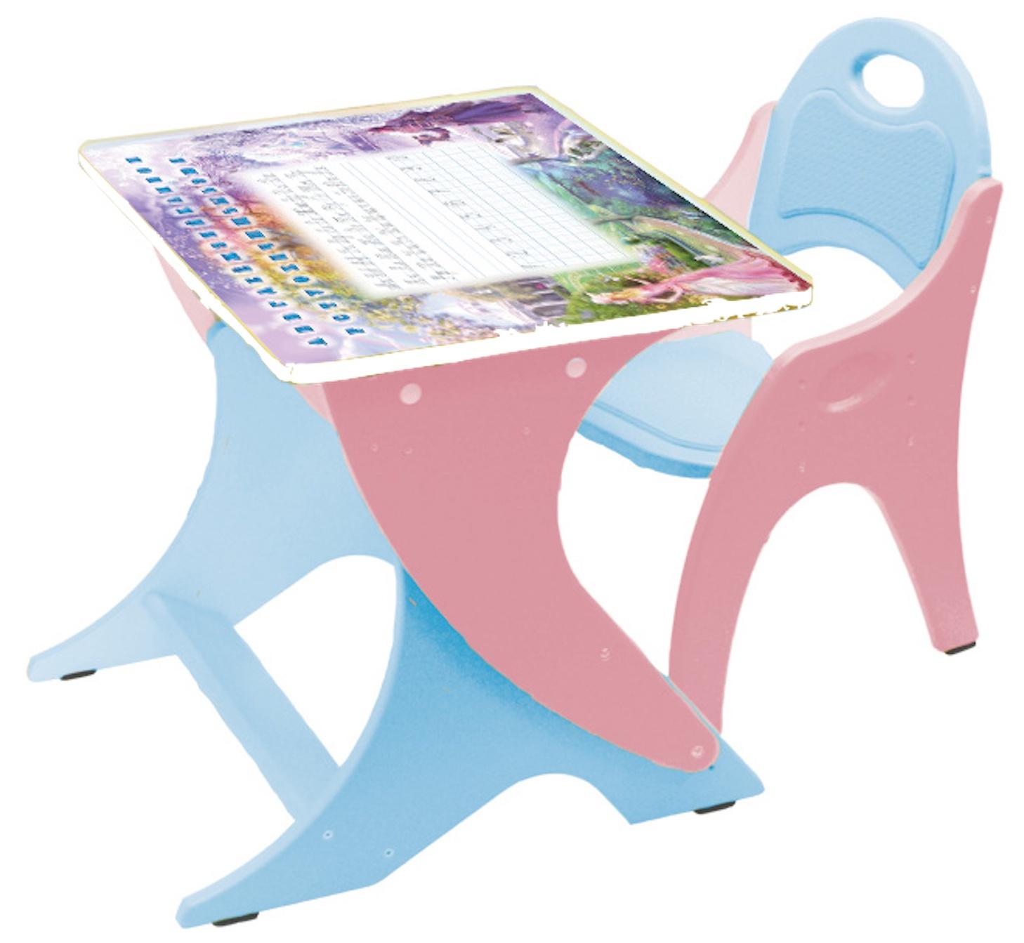 Набор детской мебели Тех Кидс РЕГУЛИРУЕМЫЙ, голубой, розовый