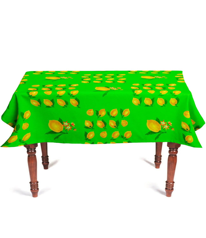 """Скатерть с покрытием """"Лето"""" зеленый 140х180 см арт. 25108, зеленый, желтый"""