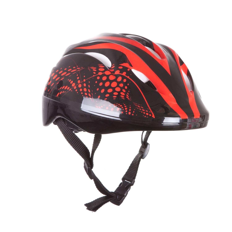 Шлем защитный Alpha Caprice FCB-8-4, красныйFCB-8-4-03Легкий и комфортный шлем защитит спортсмена от неожиданных падений при катании на роликовых коньках, скейтбордах, велосипедах, самокатах. Изготовлен из плотного пенополистерола с верхним покрытием из ABS пластика. Имеет вентиляционные отверстия. Благодаря механизму регулировки размер шлема легко изменяется соответственно размеру головы. Легко расстегивающаяся пряжка с системой Aculock. Упакован в полиэтиленовый пакет. Размер : L 53-55