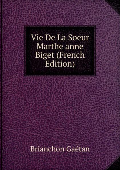 Brianchon Gaétan Vie De La Soeur Marthe anne Biget (French Edition) цена и фото