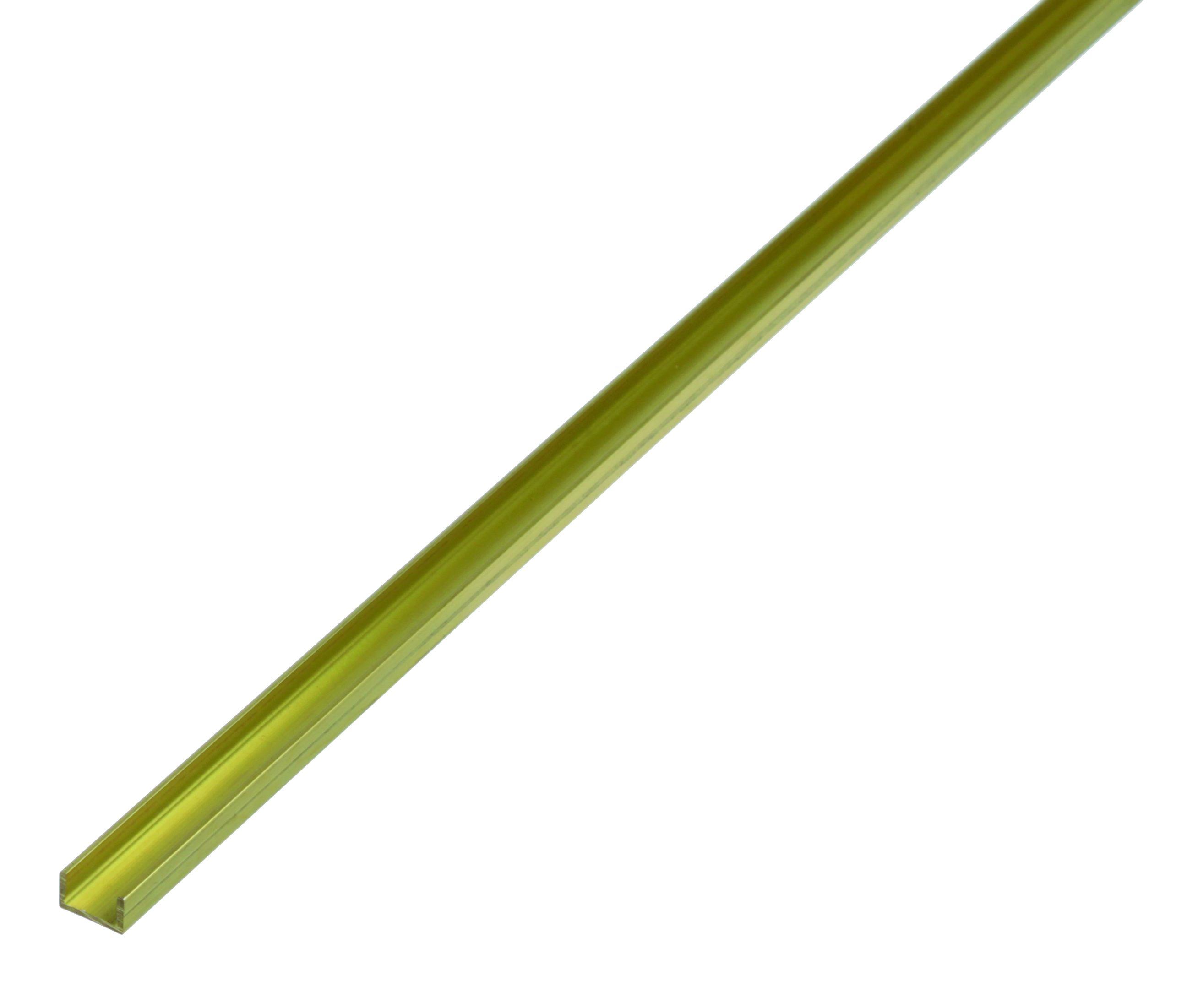 Латунный профиль, Gah Alberts, П-образный, 6x6x6x1х1000 мм