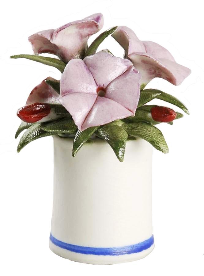 Композиция Franklin Mint Петуния, розовый, зеленый, бордовый композиция franklin mint чубушник сноубель зеленый белый светло коричневый