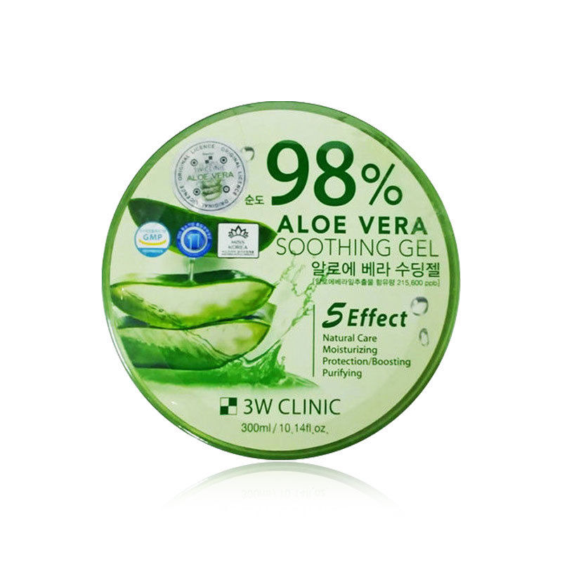 Гель для ухода за кожей 3W Clinic Aloe Vera Soothing Gel 98% универсальный, 300гр