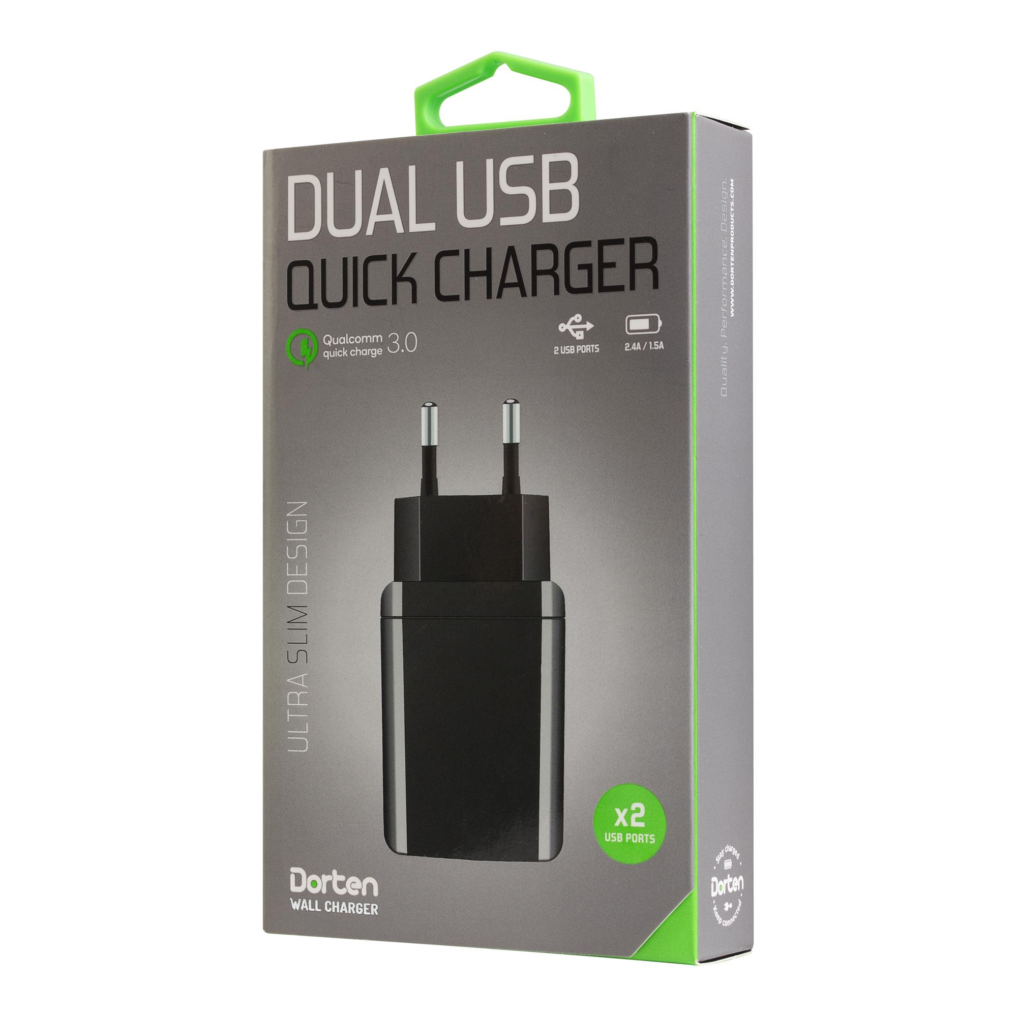 Зарядное устройство DORTEN DN204301, черный сотовый телефон senseit t100 black