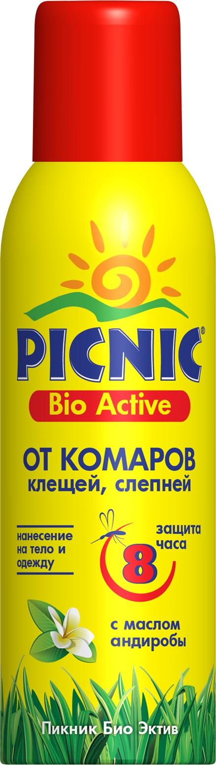 Средство от насекомых Picnic Bio Activ, 120 мл, от комаров и клещей средство акарицидное защита от клещей super picnic 125 мл