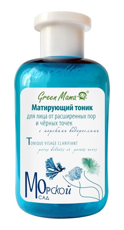 Тоник для лица Green Mama Матирующий, от расширенных пор и черных точек, с морскими водорослями, 300 мл green mama тоник для жирной кожи брусника и чистотел 300 мл