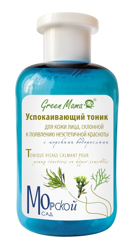 Тоник для лица Green Mama Успокаивающий с морскими водорослями, 300 мл green mama тоник для жирной кожи брусника и чистотел 300 мл
