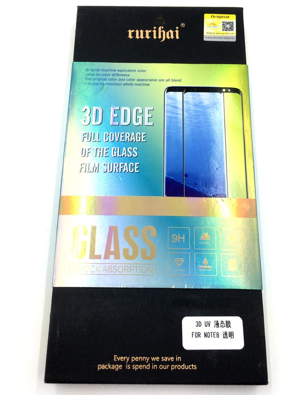 Защитное стекло RURIHAI Samsung Note 8 Стекло 3D, Premium 243, черный защитное стекло mobius samsung note 8 черный