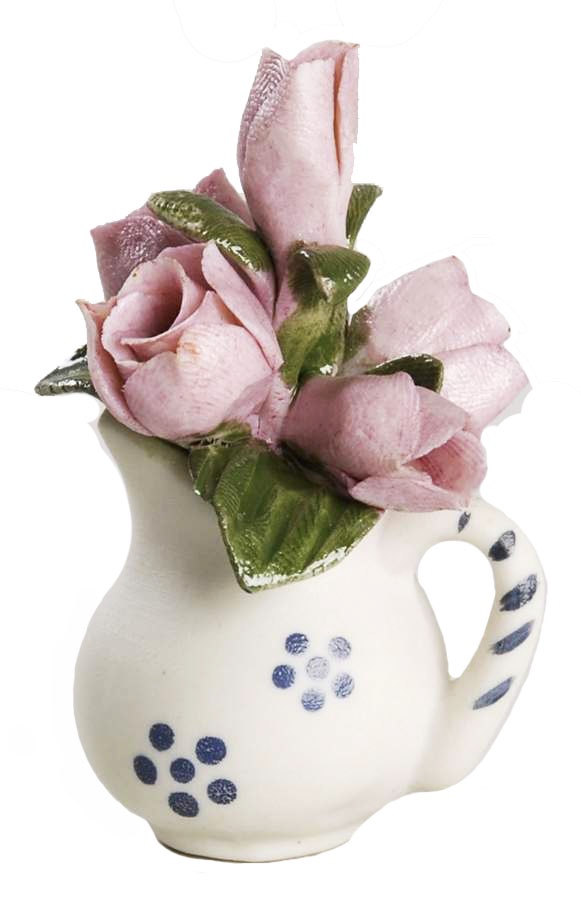 Композиция Franklin Mint Тюльпаны, белый, розовый, зеленый franklin