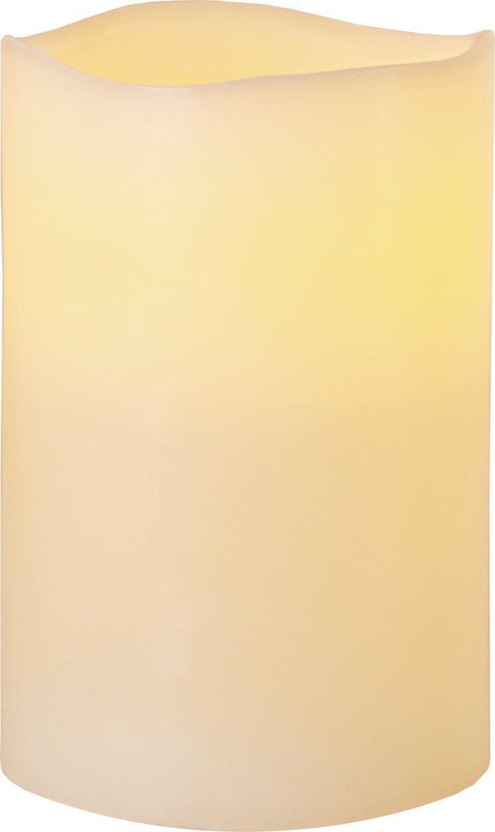 Свеча декоративная LED Star Trading Big Wax, 068-65, бежевый, 15 см светодиодная свеча star trading glow wax beige 068 83