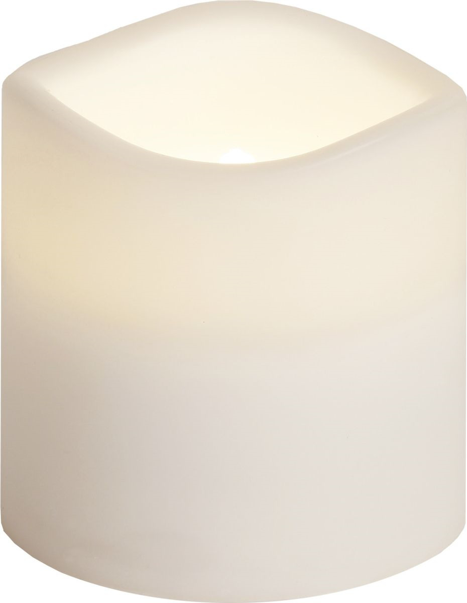 Свеча декоративная LED Star Trading Сandle Plastic, 067-77, белый, 7,5 см светодиодная свеча star trading glow wax beige 068 83