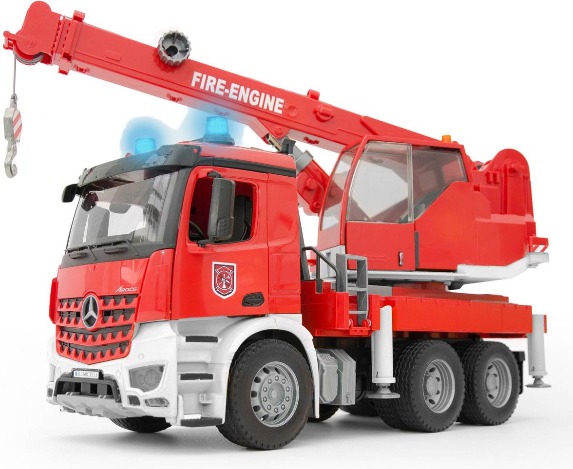 Пожарная машина-автокран Bruder MB Arocs, 03-675 детские игрушки машины автокран