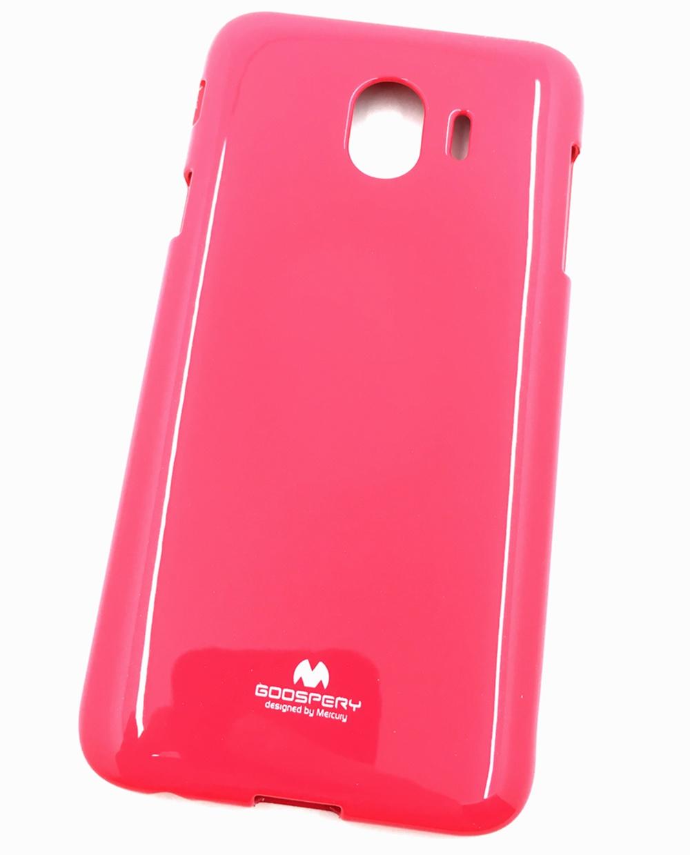 """Чехол для сотового телефона Goospery Samsung J4 Накладка """"Mercury"""" Jelly Case ламинированный силикон, розовый"""