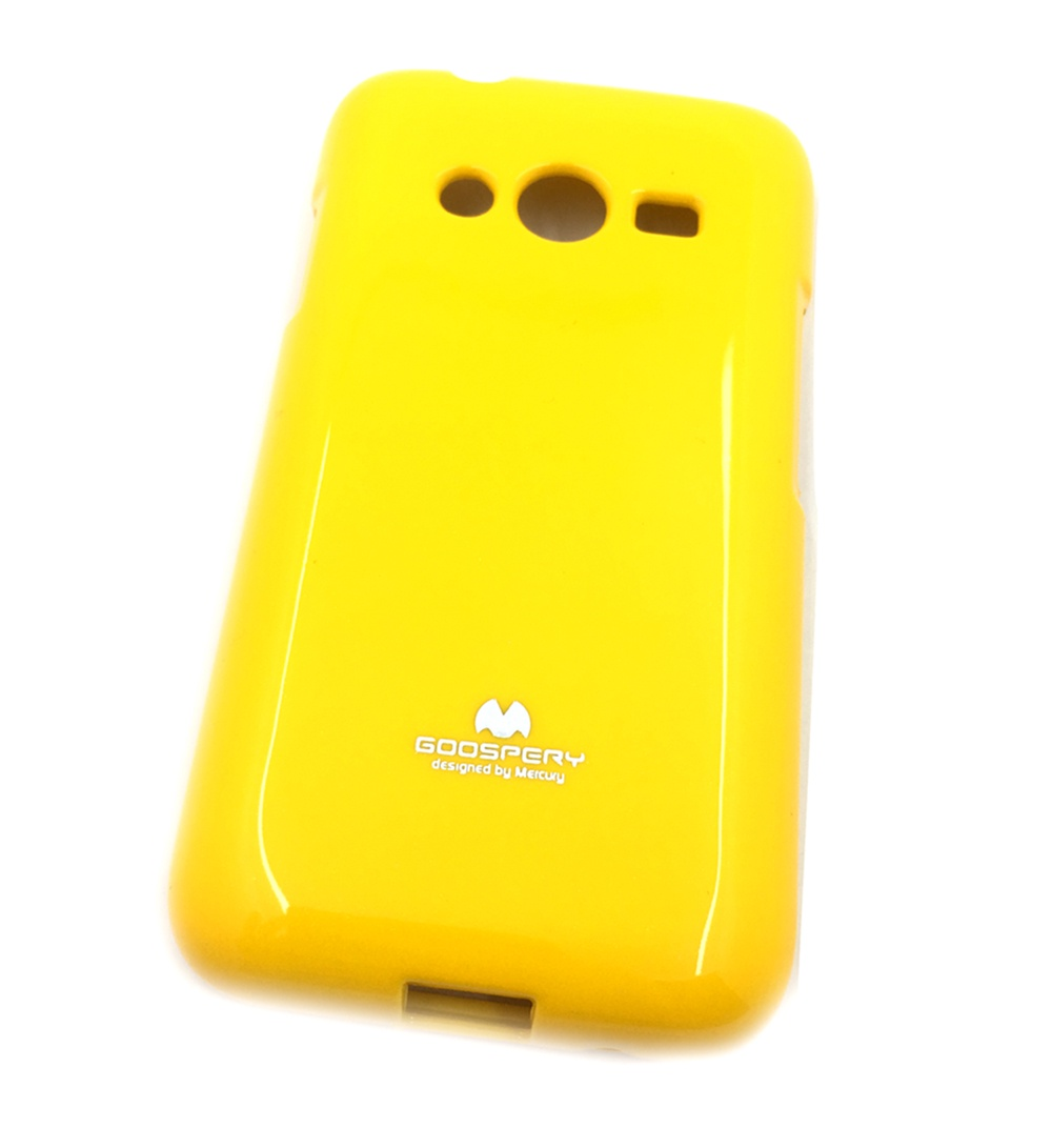Чехол для сотового телефона Мобильная мода Samsung Ace 4 Lite G313H Накладка силиконовая ламинированная пленкой Jelly Case, желтый чехол для сотового телефона мобильная мода samsung grand prime g530 j2 prime накладка силиконовая jelly case