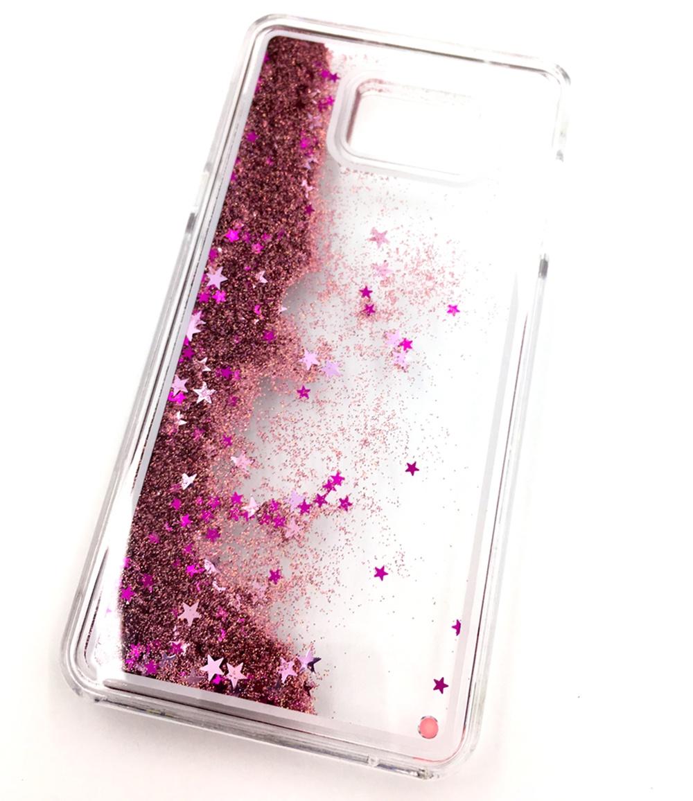 Чехол для сотового телефона Мобильная мода Samsung Note 5 Накладка с блестками в переливающейся жидкости, розовый