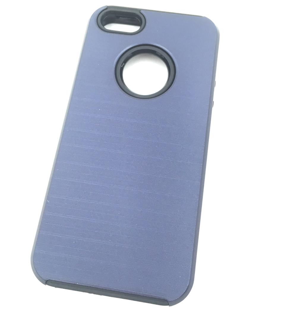 Чехол для сотового телефона Мобильная мода iPhone 5/SE Накладка противоударная с дыркой под логотип, синий