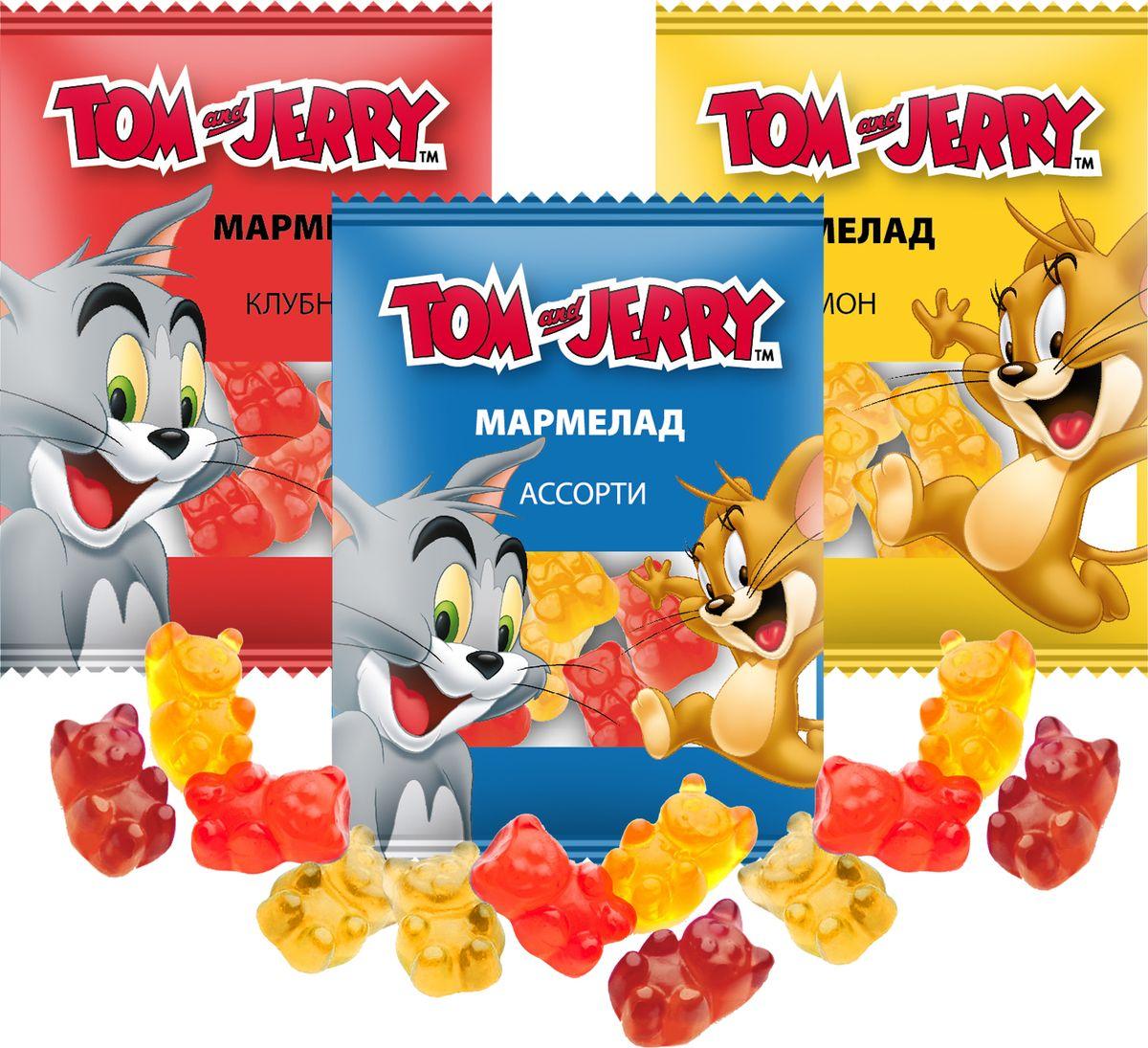 Жевательный мармелад Tom and Jerry Микс вкусов, 48 шт по 10 г 4 сезона клубника 300 г