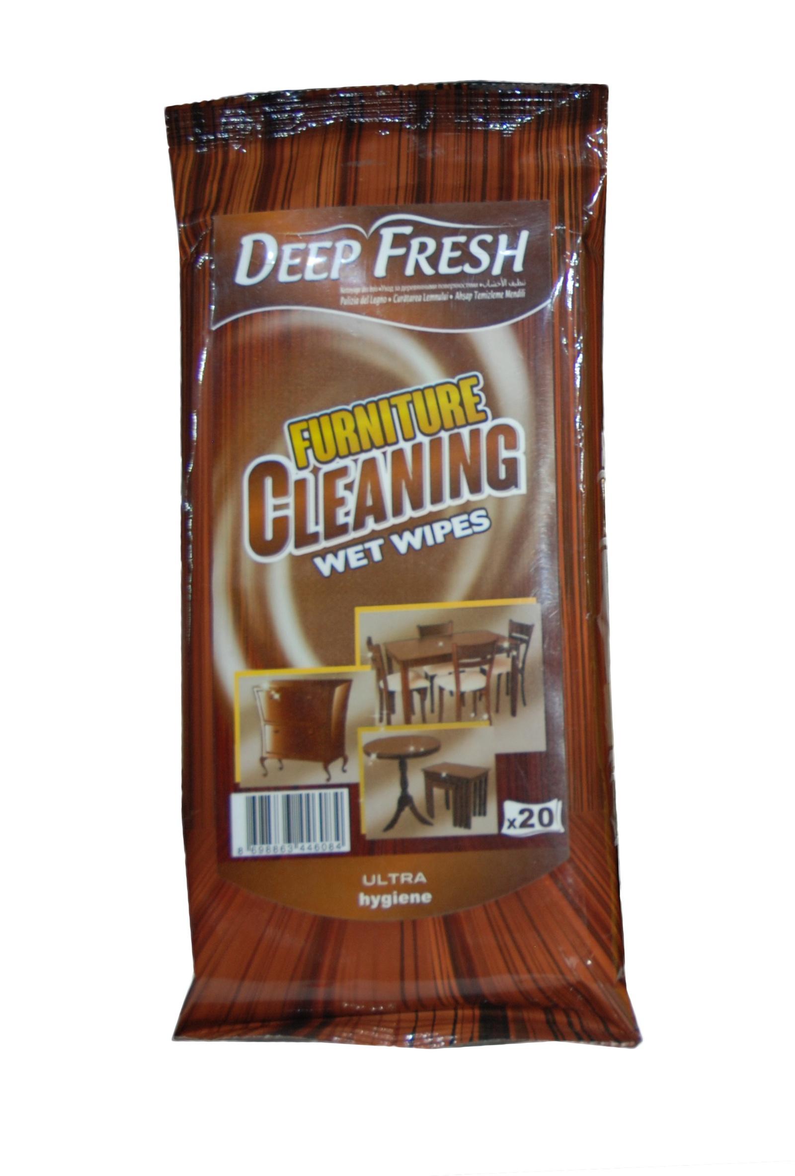 Салфетка Deep Fresh Салфетки для мебели 20 шт, белый канпо презервативы sensitive тонкие 12шт черная упаковка