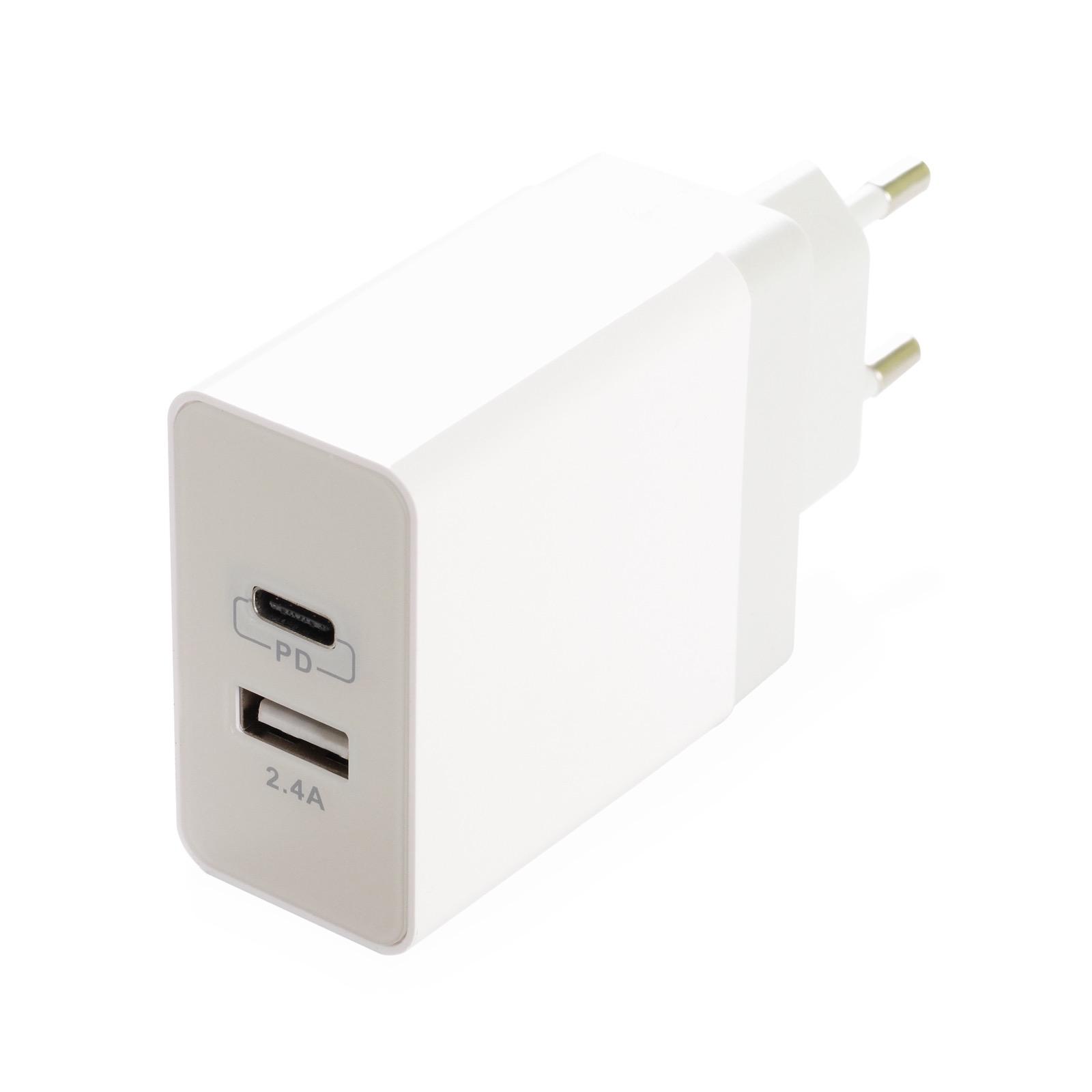 Зарядное устройство iNeez USB-C PD 908165 Smart charge 24W, белый