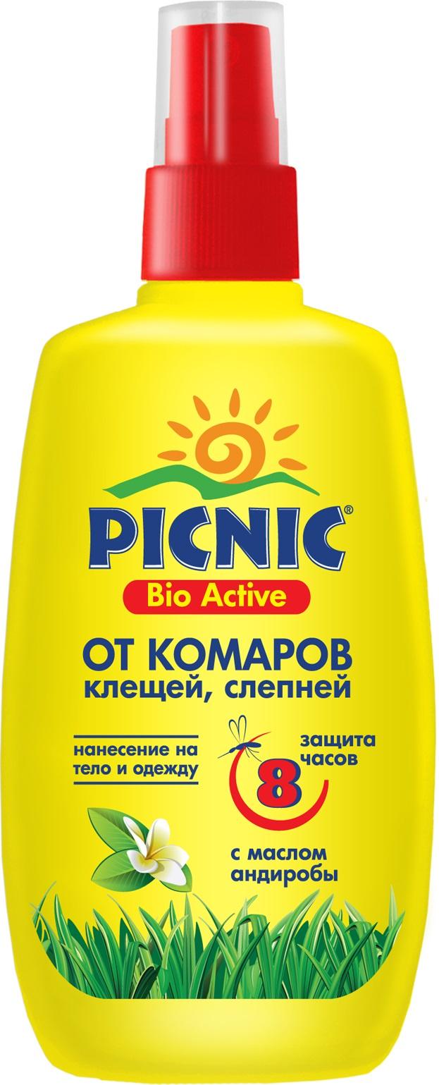 Спрей от комаров и клещей Picnic Bio Activ, 120 мл средство акарицидное защита от клещей super picnic 125 мл