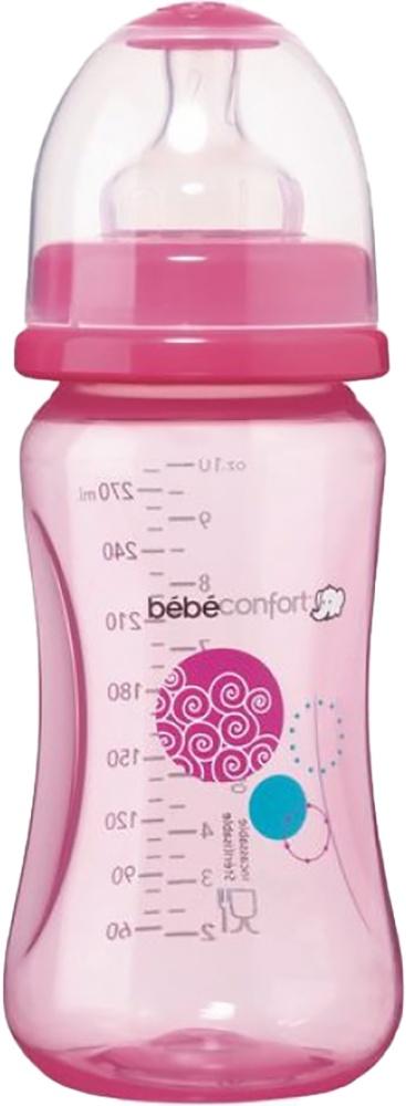 Бутылочка для кормления Bebe Confort Maternity PP, сил. соска для супов и каш, 360 мл, 6-24 розовый