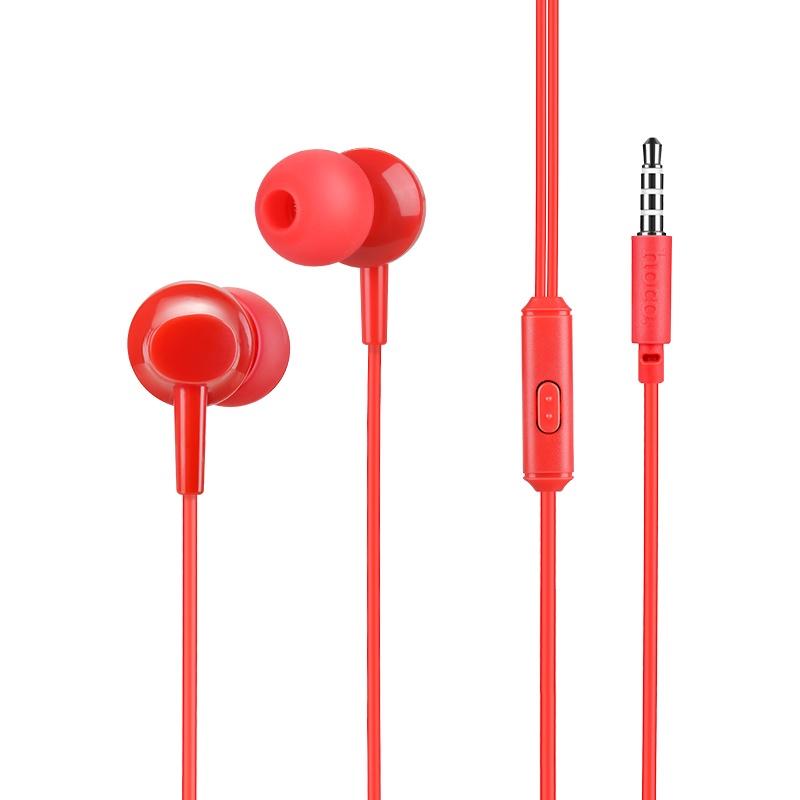 Наушники HOCO М14 Natural Sound Universal с микрофоном, красный стоимость
