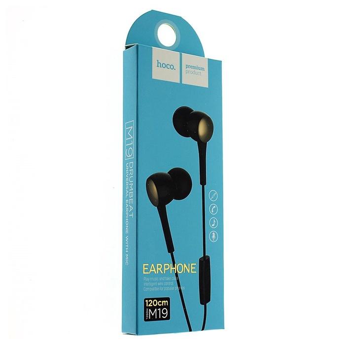Наушники HOCO М19 Drumbeat Universal с микрофоном, черный