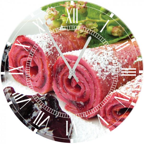 Настенные часы Kitchen Interiors 35012773501277Настенные часы для кухни. Механизм: Кварцевый; Корпус: Дерево; Размер: Диаметр 35 см;Рисунок: Рулет