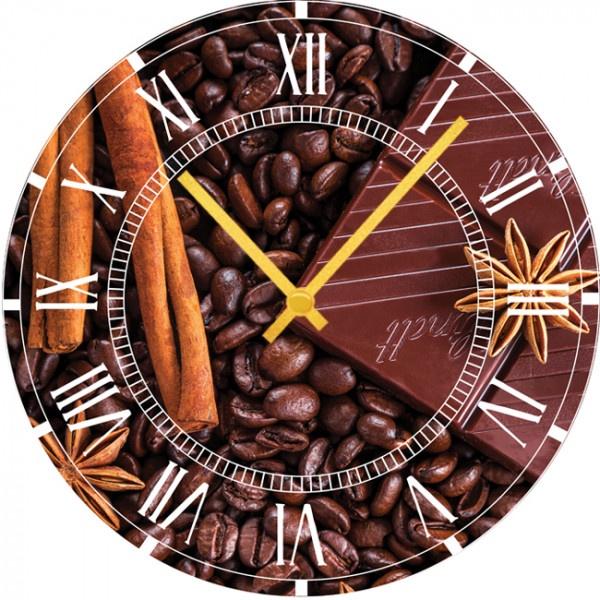 Настенные часы Kitchen Interiors 40012954001295Настенные часы для кухни. Механизм: Кварцевый; Корпус: Дерево; Размер: Диаметр 40 см;Рисунок: Кофейные зерна